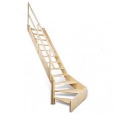 Деревянная лестница Dolle Normandie с забежными ступенями
