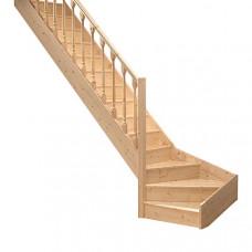 Деревянная лестница Dolle Paris с забежными ступенями