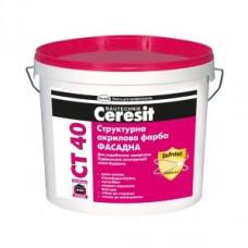 Ceresit CT-40 Краска акриловая структурная 10л