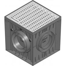 Точечный дренаж HAURATON Recyfix Point 30/30 PР-PЕ, з корзиной для мусора, гидрозатвором и оцынк решеткой