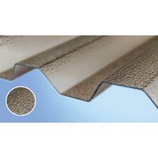 Поликарбонатный шифер Rober бронзовый текстурированный 2000*1045*0,8мм трапеция