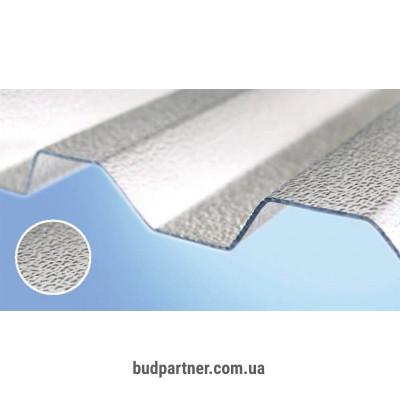 Поликарбонатный шифер Rober прозрачный текстурированный 2000*1045*0,8мм трапеция