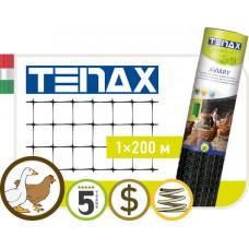 """Сетка полимерная Tenax """"Авиари"""" черный (1х200м)"""