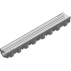 Желоб HAURATON TOP Х (119 х 89 х 1000), PP-PE (черный), з оцынк. решеткой (SW 9мм), кл. CAR TRAFFIC, 1м.п.